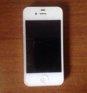 Айфон 4s 32gb + наклейки на экран