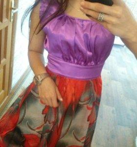 👗Новое комбинированное платье