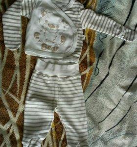 Комплект штанишки и кофточка р-62