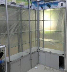 Стеклянные витрины из алюминиевого профиля