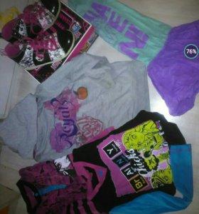 Вещи для девочки пакетом+подарок