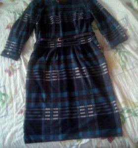 Утеплённое платье, 54 размер.новое