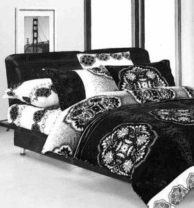 Постельное белье - новое Black & White 2-сп.