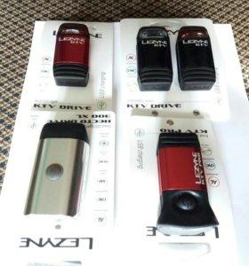 Фонари Lezyne USB передние и задние.