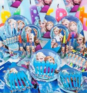 Холодное сердце одноразовая посуда для праздника