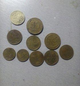 Монеты 1990,1983,1972,1979х годов