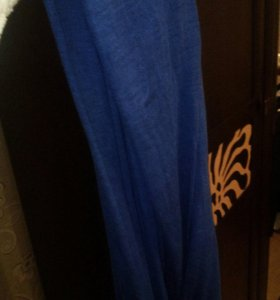 Круглый синий шарф