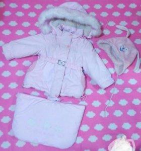 Конверт овчина куртка зимний теплый