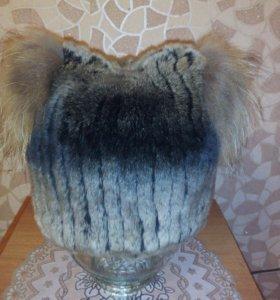 Шапка зима из кролика натуральная .