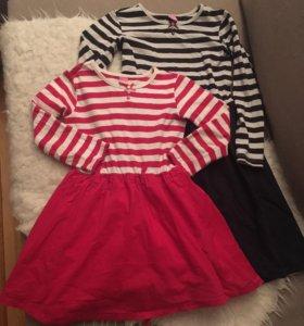 2 платья на девочку 5-7 лет