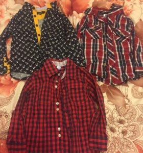 Рубашки, жилетка
