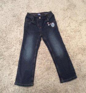 Утеплённые джинсы 98 р