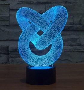 Ночник 3 D светильник головоломка