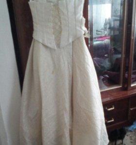 Выпускное Платье со шлейфом.