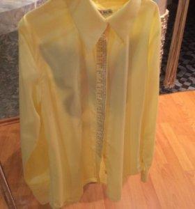Нарядная желтая блузка