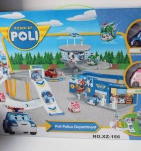 Парковка с горками Поли робокар