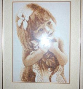 Картина «Любимый котенок» вышивка крестом