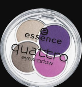 Палетка теней essence эсенс quattro eyeshadow