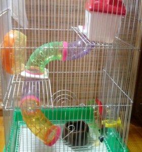 Клетка для грызунов 3-х этажная