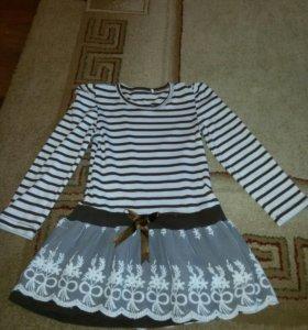 Платье б/у, блузка б/у, платье розовое новое