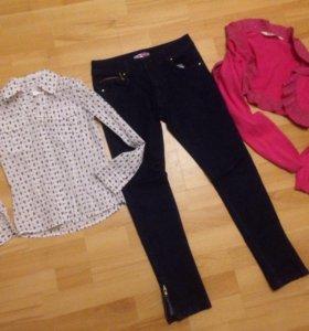 Рубашка , джинсы , болеро