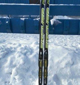 Лыжи Fischer Skate NIS JR + крепление Xcelerator