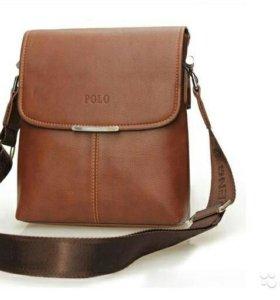 Новая Мужская Кожаная сумка Massenger Bag