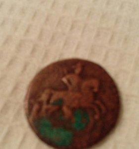 Старинная монетка 1757год