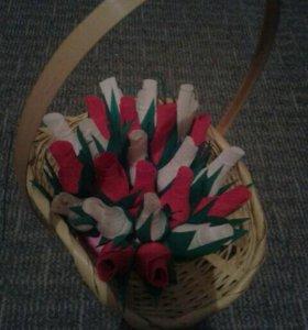 Корзинки и букеты из конфет