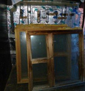 Окна деревянные 3 шт. Б/у
