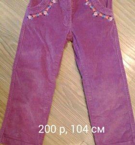 Вельветовые брюки PlayToday р.104