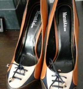 Туфли кожзам, 37 - 37,5