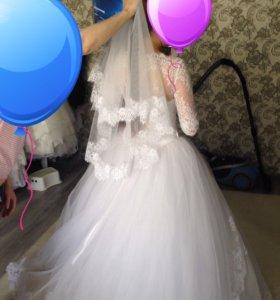 Новое свадебное платье, размер 44-46