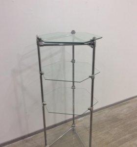 Этажерка стеклянная