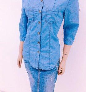 Женские джинсовые рубашки.👚