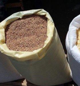 Зерно кукурузы, пшеницы, гороха, жмых...