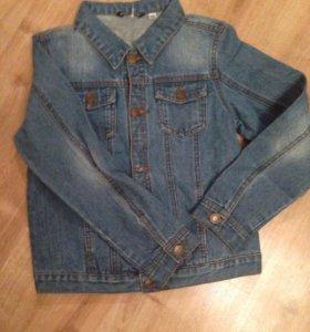 Новая джинсовая куртка для мальчика. Рост 146