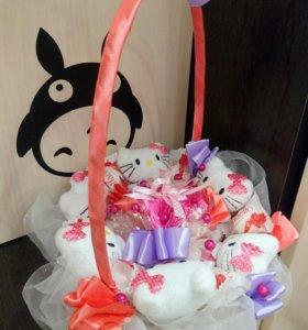 Букет игрушек с конфетами