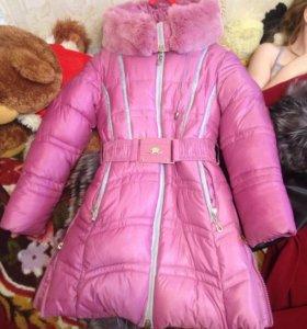 Зимний пуховик для девочки
