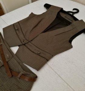 Женская жилетка + юбка.Размер М