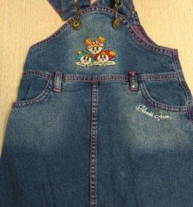 Сарафаны джинсовые на девочку 1-2 года