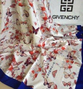 Платки Givenchy 120x120см шелк 9цветоа