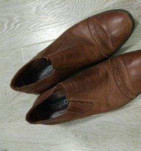 Кожаные ботинки туфли мужские