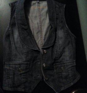 Немецкая жилетка джинсовая