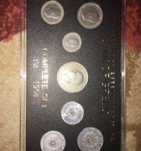Набор греческих монет 1954 года