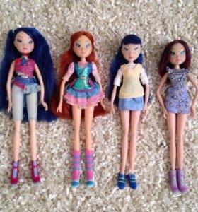 Куклы Winx (4 куколки + одежда за 1200)