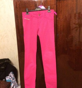Розовые штаны/джинсы/брюки