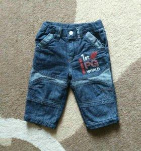 Детские джинсы на хлопковой подкладке