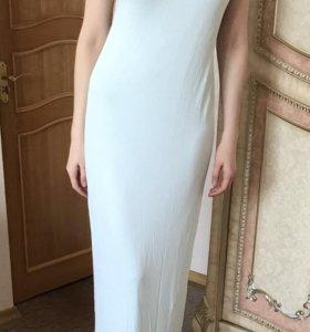 Платье длинное ментоловое zara