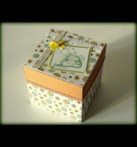 Коробочка подарочная,скрапбукинг,хэндмэйд,упаковка